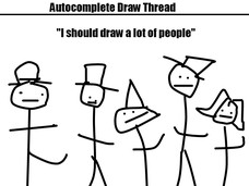 """I should draw a lot of people"""