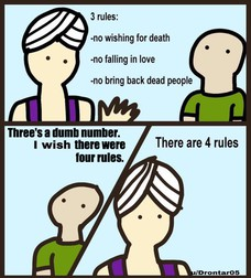 there were Three's a dumb number. four rules.