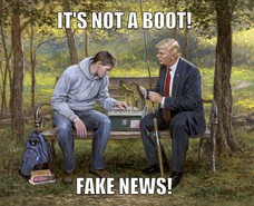 IT'S NOT A BOOT! FAKE NEWS!