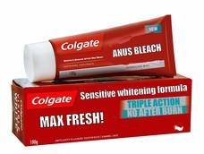 ANUS BLEACH TRIPLE ACTION NO AFTER BURN MAX FRESH! Sensitive whitening formula