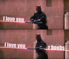 I love you I love you r boobs