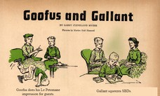 Goofus does his Le Petomane impression for guests. Gallant squeezes SBDs.