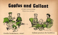 Goofus breakdances, sweet! Gallant practices for Scribbl.es
