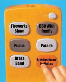Fireworks Show BBQ With Family Picnic Parade Brass Band Stay Inside on Scribbl.es